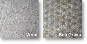 Windsor Wool and Seagrass Shown Here