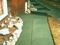 Eco-Rubber Low Impact Pavers