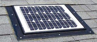 Retrofit Turbine Mount Solar Powered Attic Fan